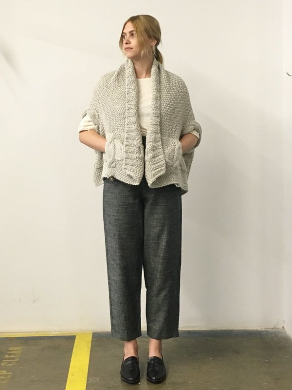 Study NY Hand Knit Vest - Brown Wool