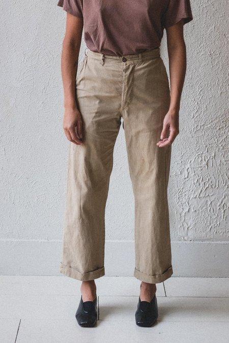 VINTAGE WORK 20 PANTS - tan sailcloth