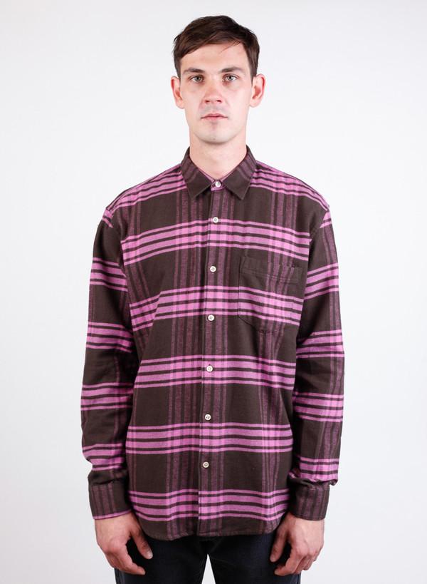 Men's Our Legacy Initial Shirt Pink Mudd Tartan