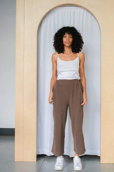 beaumont organic Winona pants - Brown Marl