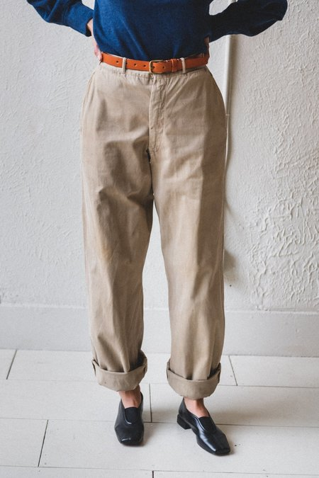 VINTAGE WORK 13 PANTS - tan sailcloth