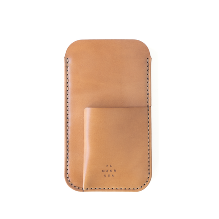 UNISEX MAKR Cordovan Card Holder iPhone Sleeve - Natural Horween