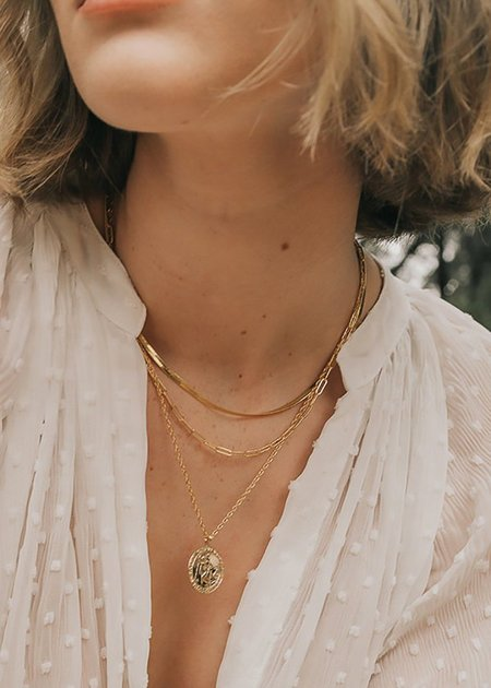Mabel and Moss Charlie Paperclip Necklace - 14K gold filled