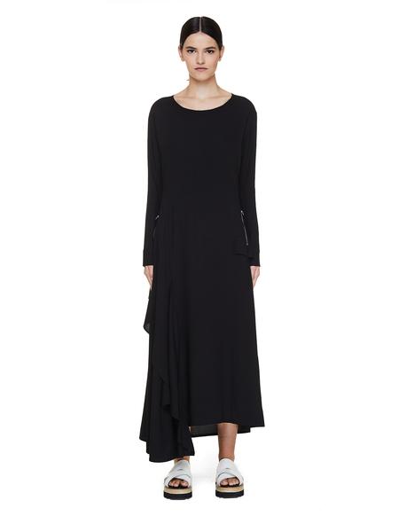 Yohji Yamamoto Dress With Asymmetric Hem
