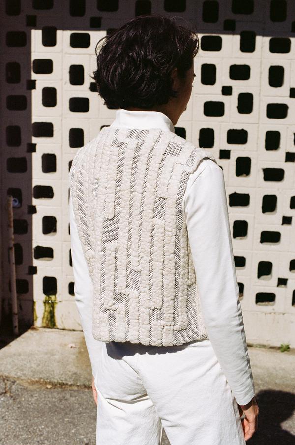 Horses Atelier Vest - geometric knit