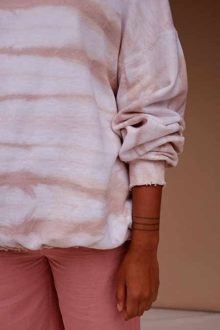 Eclectic Sun Island Evenings Pullover - Nude Tie Dye