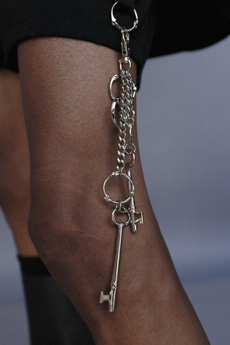 TAKAHIROMIYASHITA The Soloist. Double Bone Shaped Ring Swivel Hook Key Chain - Silver