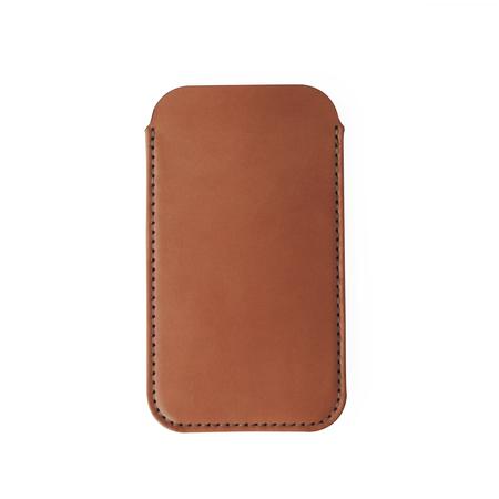UNISEX MAKR iPhone Card Sleeve Case - Saddle Tan