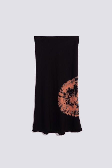 Assembly Bias Skirt - Black Tie Dye