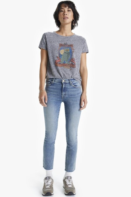 Mother Denim Little Goodie Goodie Bohemian Hollow Tee - Heather Grey