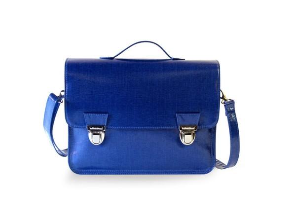 Miniseri Medium Glossy Blue School Bag - Dodo Les Bobos