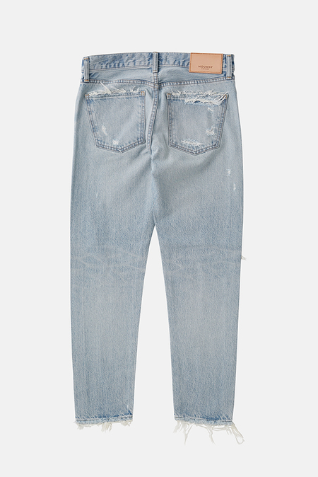 Moussy Yardley Tapered Jeans - Light Blue