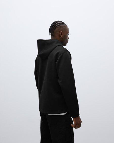 Wings+Horns Structured Hoodie - Black