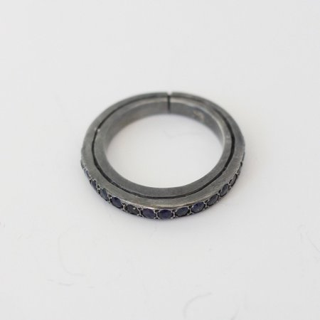 Rosa Maria Jewelry Ester St Dia SBL Silver Ring - Sterling Silver/Sapphires