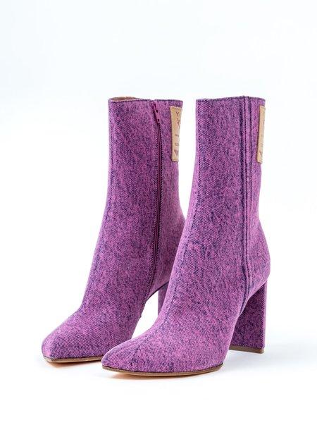 Y/project Y Tag 90mm Heel Baby Boot - Fuchsia