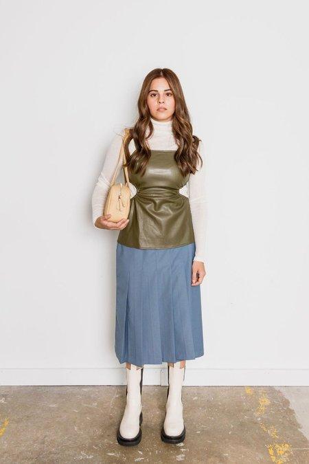 Sllow Pleated Wrap Skirt - Blue
