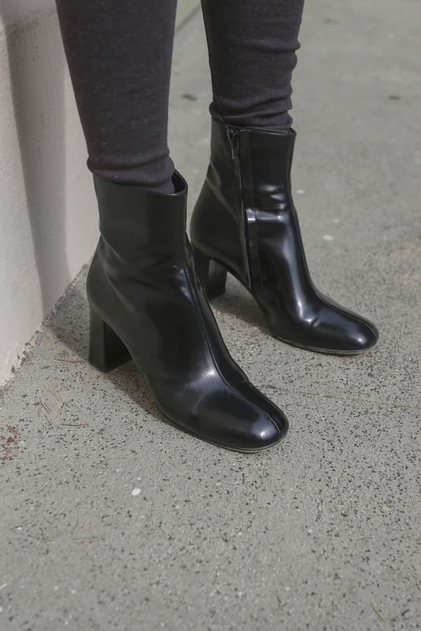 Maryam Nassir Zadeh Agnes Boot in Black Shine