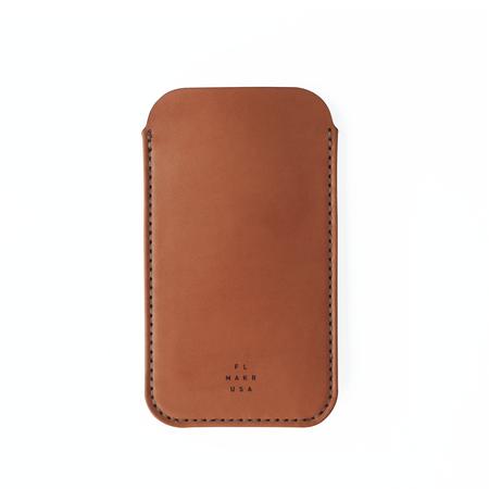 UNISEX MAKR iPhone Sleeve CASE - Saddle Tan Horween