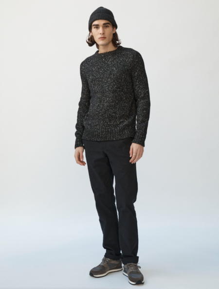 Corridor Alpaca Donegal Crew Neck Sweater - Black