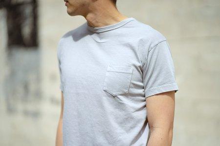 3Sixteen Garment Dyed Pocket T-Shirt - Ash