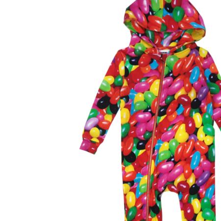 Kids Romey Loves Lulu Jelly Beans Zippered Hoodie Spacesuit