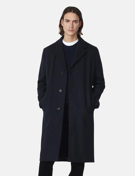 A.P.C. Sacha Woolen Cloth Coat - Navy Blue