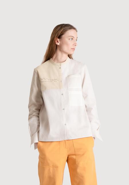 OK KINO Colorblock shirt - Neutrals