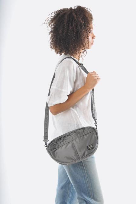 Porter Tanker Shoulder Bag - Silver Grey