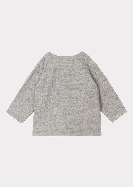 Kids Caramel Pochard Gifting Wrap Cardigan - Grey Melange
