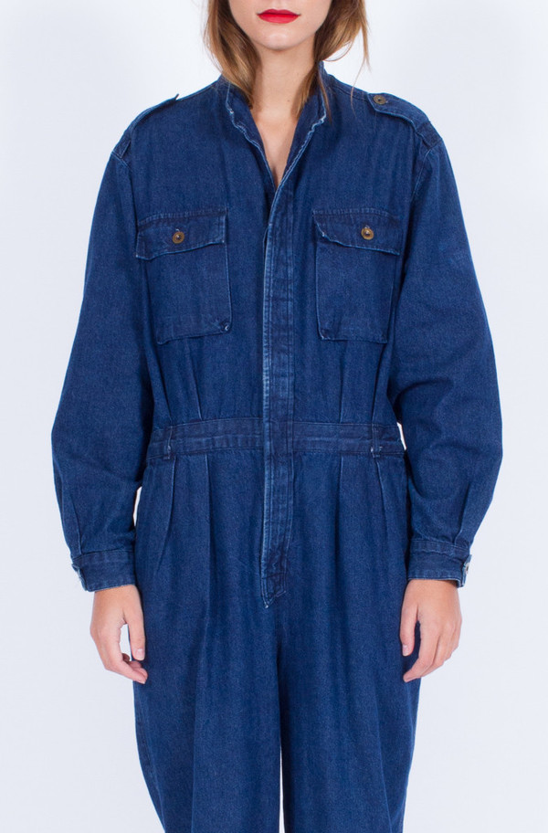 Yo Vintage! CALVIN KLEIN DENIM JUMPSUIT (MEDIUM-LARGE)