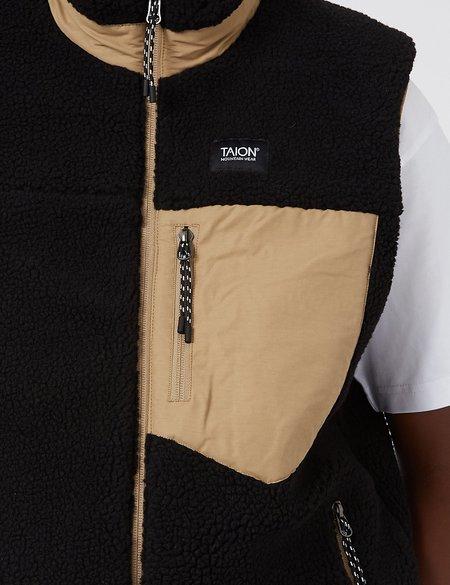 Taion Down x Boa Reversible Vest - Beige/Black