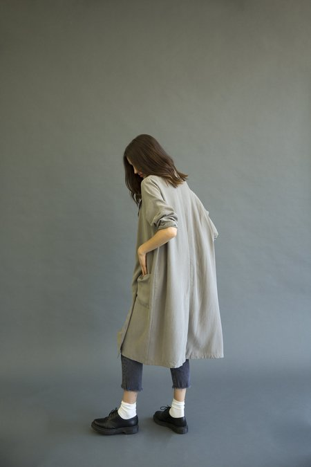 It Is Well L.A. Tencel Trench Coat - Taupe