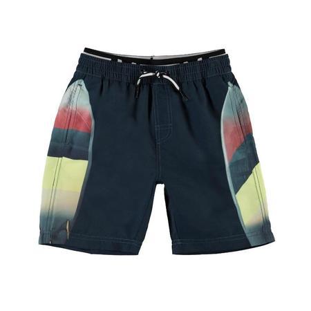 kids molo neal swim shorts california surf - black