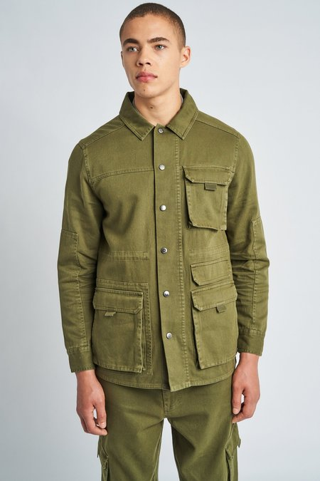 Native Youth Eli Utility Shacket - Khaki