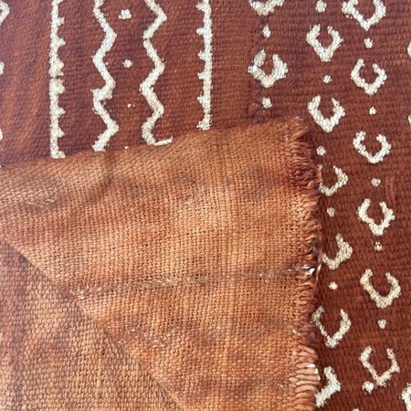 Made Solid West African Mudcloth - Rust