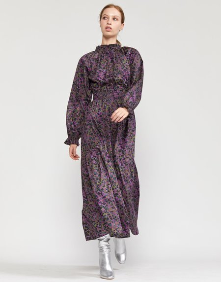 Cynthia Rowley Marbelle Smocked Waist Printed Cotton Dress - PPMAR