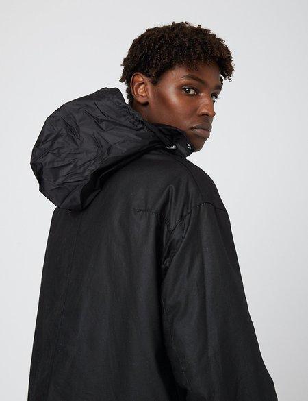 Barbour Gold Standard Supa-Border Waxed Cotton Jacket - Black