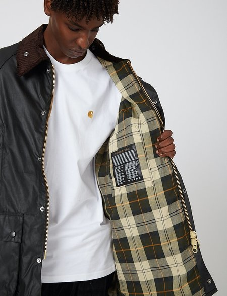 Barbour OS Beaufort Waxed Jacket - Sage