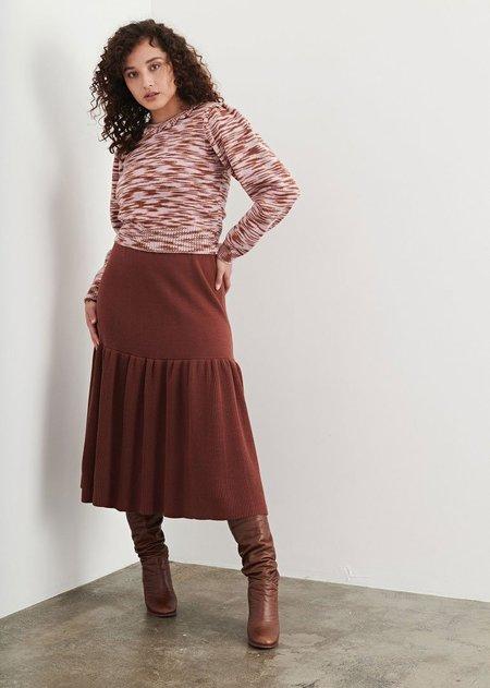 Misha & Puff Prairie Skirt - Chestnut