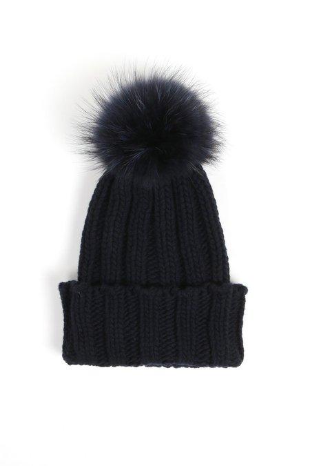 Inverni Pom Pom Hat - Navy