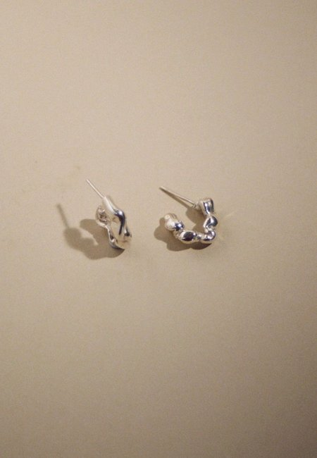 MARS Mini Catana Hoops - Sterling Silver
