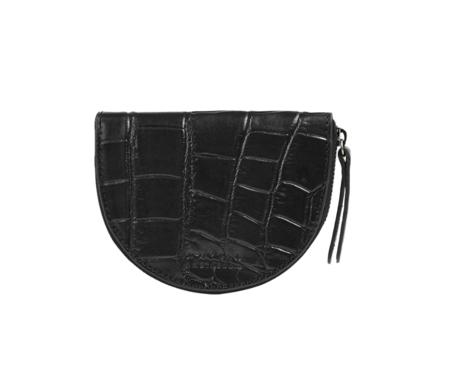 O My Bag Laura`s Croco Classic Leather Purse - Black