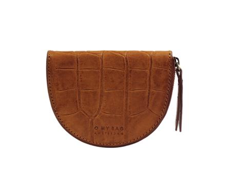 O My Bag Laura`s Croco Classic Leather Purse - Cognac
