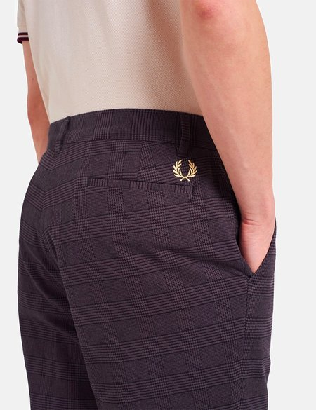 Fred Perry Check Trouser - Black