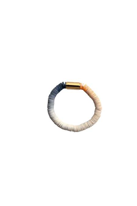 JULIE THÉVENOT Gradient shrimp Isiand bracelet - blue/white/orange