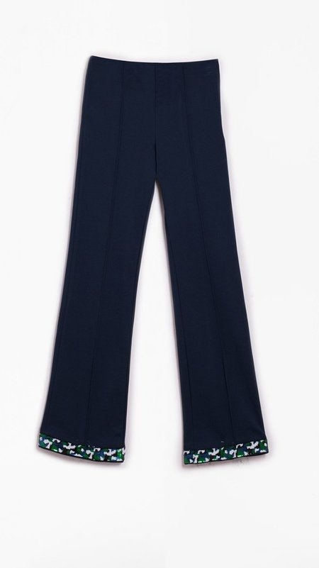 Vilagallo Guillia Knit Trouser - Navy
