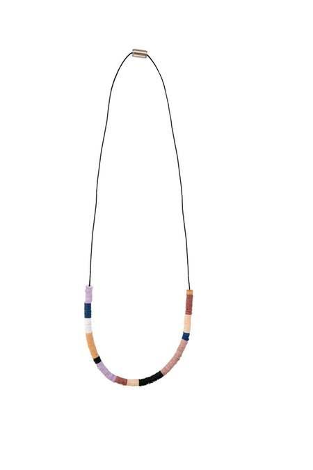 JULIE THÉVENOT chunky half Isiand necklace - silver