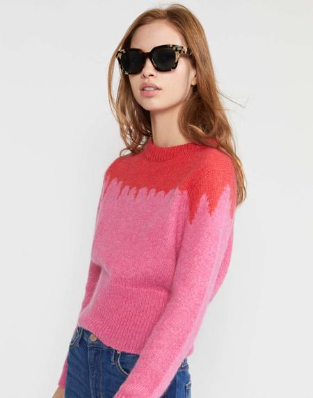 Cynthia Rowley Snowbird Intarsia Knit Sweater - PNKRD