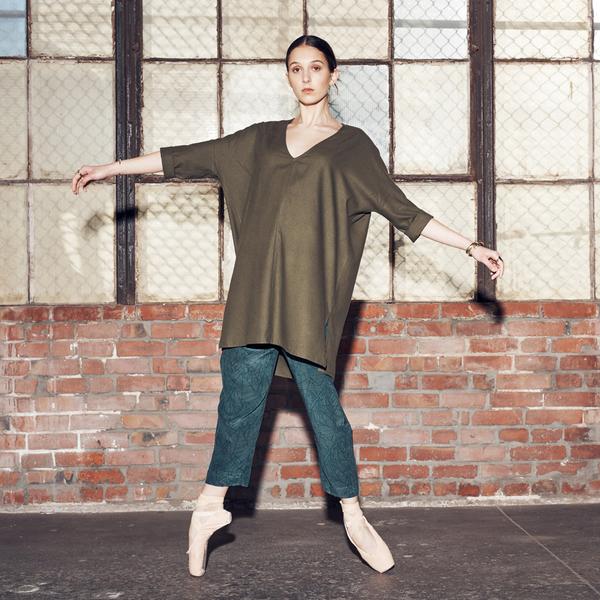 Ali Golden Olive Kimono