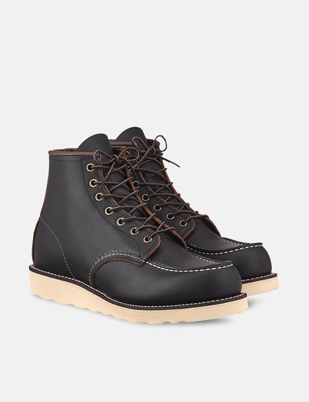 Red Wing Shoes Heritage Work 6 Moc Toe Boot - Black